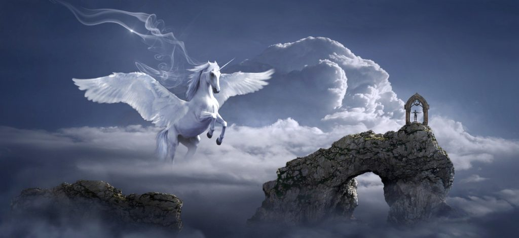 Dream - flying horse and clouds